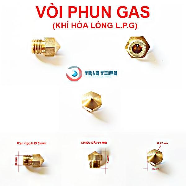 Vòi phun gas